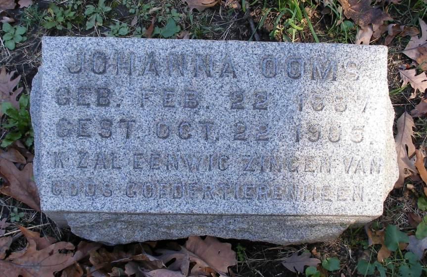 Tombstone Tuesday — JohannaOoms